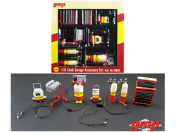 6pc Shop Tools Set #1 Shell Oil 1/18 Diecast by GMP