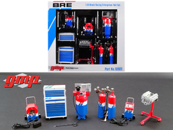 "6 piece Garage Shop Tools Set #1 ""Brock Racing Enterprises"" (BRE) 1/18 Diecast Replica by GMP"