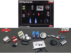 Accessory Pack 19 pieces for 1969 Chevrolet Camaro 1320 Drag Kings 1/18 Diecast Replica by GMP