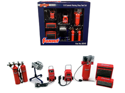 """Garage Shop Tool Set of 7 pieces """"Summit Racing Equipment"""" 1/18 Diecast Replica by GMP"""