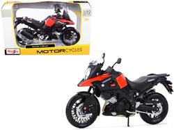 Suzuki V-Strom Red and Black 1/12 Diecast Motorcycle Model by Maisto