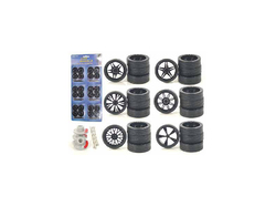 Wheels and Tires and Rims Multipack Set of 24 pieces for 1/24 Scale Model Cars and Trucks