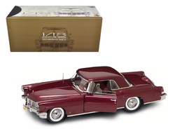 1956 Lincoln Continental Mark 2 Burgundy 1/18 Diecast Model Car by Road Signature