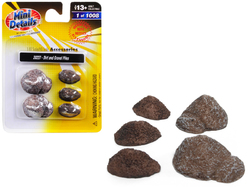 Dirt and Gravel Piles 5 piece Accessory Set for 1/87 (HO) Scale Models by Classic Metal Works