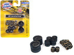 Spare and Scrap Tire Loads 4 piece Accessory Set for 1/87 (HO) Scale Models by Classic Metal Works