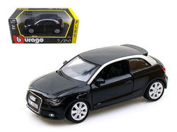 Audi A1 Black 1/24 Diecast Car Model by Bburago