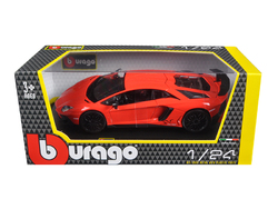 Lamborghini Aventador LP750-4 Red 1/24 Diecast Model Car by Bburago