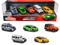 4x4 SUV Giftpack 5 piece Set 1/64 Diecast Model Cars by Majorette