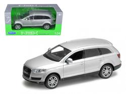 Audi Q7 Silver 1/24 Diecast Car Model by Welly