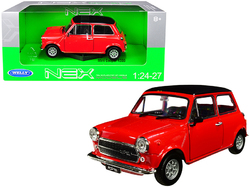 Mini Cooper 1300 Red with Black Top 1/24-1/27 Diecast Model Car by Welly