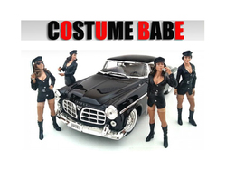 """""""Costume Babes"""" 4 Piece Figure Set For 1:18 Scale Models by American Diorama"""
