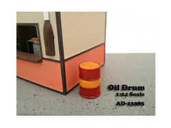 Oil Drum Accessory Set of 2 pieces for 1/24 Scale Models by American Diorama