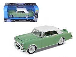 1953 Packard Caribbean Soft Top Green 1/24 Diecast Car Model by Welly