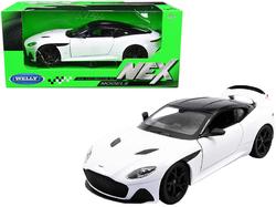 "Aston Martin DBS Superleggera White with Black Top ""NEX Models"" 1/24 Diecast Model Car by Welly"