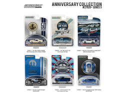 Anniversary Collection 50th Anniv Shelby / Corvette Z06 60th Anniv / Ford Trucks 100 Years /  MOPAR 80th Series 5, 6pc Diecast Car Set 1/64 Diecast Model Cars by Greenlight