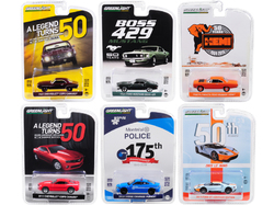 """Anniversary Collection"" 6 piece Set Series 8 1/64 Diecast Model Cars by Greenlight"