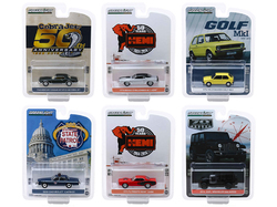 """""""Anniversary Collection"""" Set of 6 pieces Series 9 1/64 Diecast Model Cars by Greenlight"""