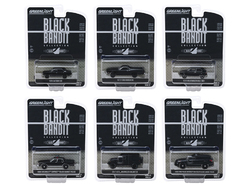 """Black Bandit"" 6 piece Set Series 22 1/64 Diecast Model Cars by Greenlight"