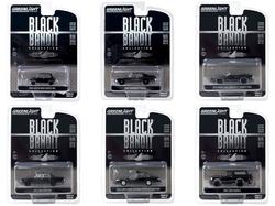 """Black Bandit"" 6 piece Set Series 23 1/64 Diecast Model Cars by Greenlight"