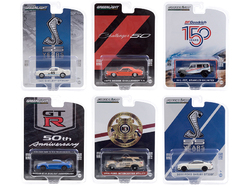 """""""Anniversary Collection"""" Set of 6 pieces Series 11 1/64 Diecast Model Cars by Greenlight"""