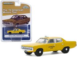 "1972 AMC Matador Yellow ""Matador Cab"" Taxicab ""Hobby Exclusive"" 1/64 Diecast Model Car by Greenlight"