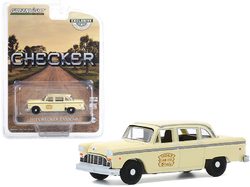 """1971 Checker Taxicab Yellow """"Tisdale Cab Co."""" """"Hobby Exclusive"""" 1/64 Diecast Model Car by Greenlight"""