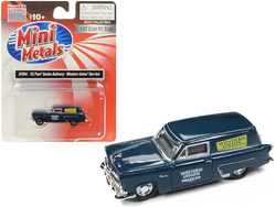 """1953 Ford Sedan Delivery """"Western Union"""" Service Dark Blue 1/87 (HO) Scale Model Car by Classic Metal Works"""