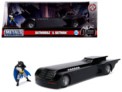"Batmobile with Batman Diecast Figure ""Animated Series"" DC Comics Series 1/24 Diecast Model Car by Jada"