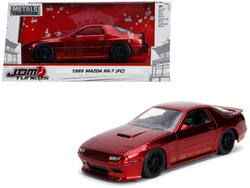 "1985 Mazda RX-7 (FC) Red with Black Wheels ""JDM Tuners"" 1/24 Diecast Model Car by Jada"