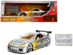 "1993 Mazda RX-7 Raw Metal ""Import Racer!"" ""Jada 20th Anniversary"" 1/24 Diecast Model Car by Jada"