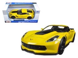 2015 Chevrolet Corvette Stingray C7 Z06 Yellow 1/24 Diecast Model Car by Maisto