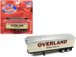 """1940's-1950's Aerovan Trailer """"Overland Freight Lines Inc."""" 1/87 (HO) Scale Model by Classic Metal Works"""