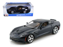 2014 Chevrolet Corvette C7 Stingray Dark Blue 1/18 Diecast Model Car by Maisto