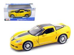 2009 Chevrolet Corvette C6 Z06 GT1 Yellow Commemorative Edition 1/24 Diecast Model Car by Maisto