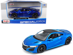 2018 Acura NSX Blue with Black Top 1/24 Diecast Model Car by Maisto
