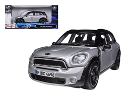 Mini Cooper Countryman Silver with Black Top 1/24 Diecast Model Car by Maisto