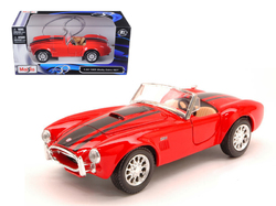 1965 Shelby Cobra 427 Red 1/24 Diecast Model Car by Maisto