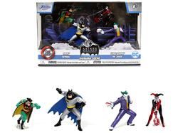 """Batman: The Animated Series"" Diorama Scene Set of 4 Diecast Figurines ""Nano Hollywood Rides"" Diecast Models by Jada"