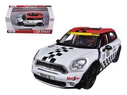 Mini Cooper Coutryman White #13 1/24 Diecast Car Model by Maisto