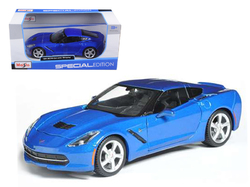 2014 Chevrolet Corvette C7 Coupe Blue 1/24 Diecast Model Car by Maisto