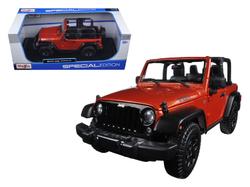 2014 Jeep Wrangler Willys Copper 1/18 Diecast Model Car by Maisto
