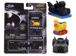 """Batman"" 3 piece Set ""Nano Hollywood Rides"" Diecast Model Cars by Jada"
