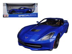2014 Chevrolet Corvette Stingray C7 Z51 Blue 1/18 Diecast Model Car by Maisto