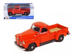 1950 Chevrolet 3100 Pick Up Truck Omaha Orange 1/25 Diecast Model by Maisto