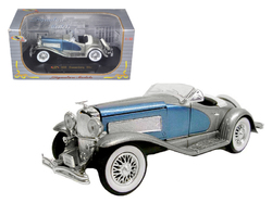 1935 Duesenberg SSJ Convertible Blue and Silver 1/32 Diecast Model Car by Signature Models