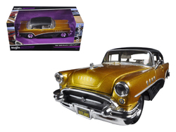 """1955 Buick Century Gold/Black """"Outlaws"""" 1/26 Diecast Model Car by Maisto"""