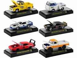 """""""Auto Meets"""" Set of 6 Cars IN DISPLAY CASES Release 54 Limited Edition to 7980 pieces Worldwide 1/64 Diecast Model Cars by M2 Machines"""