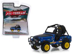 "1971 Jeep CJ-5 #44 Baja Cragar Dark Blue with Black Hood ""All Terrain"" Series 8 1/64 Diecast Model Car by Greenlight"