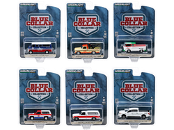 """Blue Collar Collection"" Set of 6 pieces Series 7 1/64 Diecast Model Cars by Greenlight"