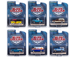 """Blue Collar Collection"" Set of 6 pieces Series 8 1/64 Diecast Model Cars by Greenlight"